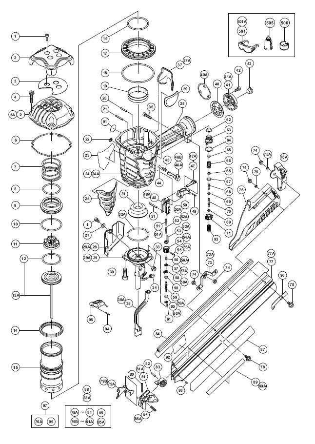 hitachi nr90ad parts schematic