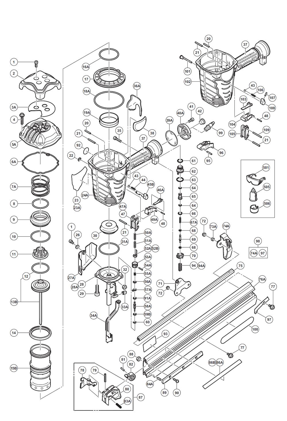 hitachi nr90aes parts schematic