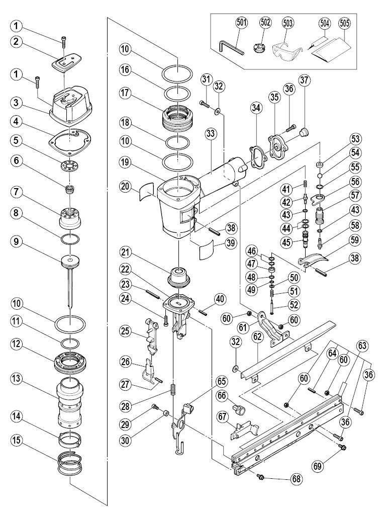 hitachi nt65a3 parts schematic