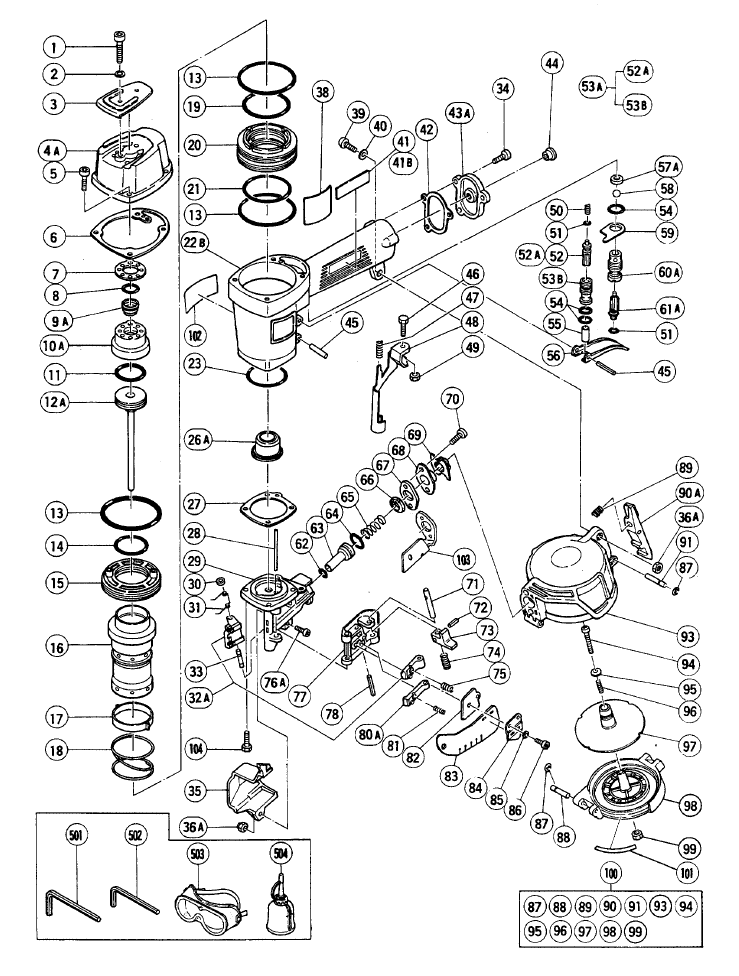 buy hitachi nv50ap2 replacement tool parts