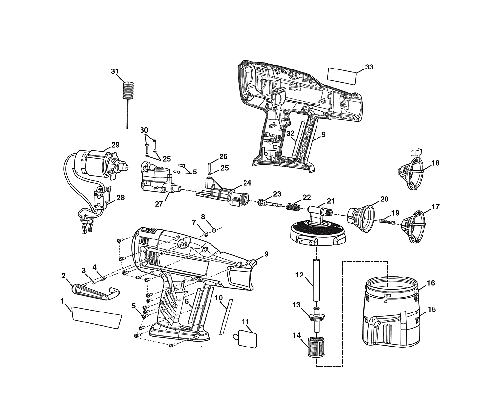buy ryobi p630 replacement tool parts