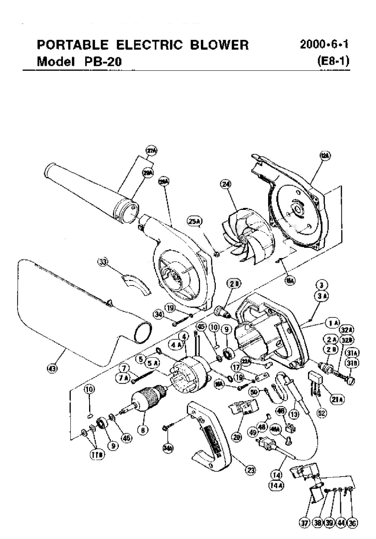 buy hitachi pb20 replacement tool parts