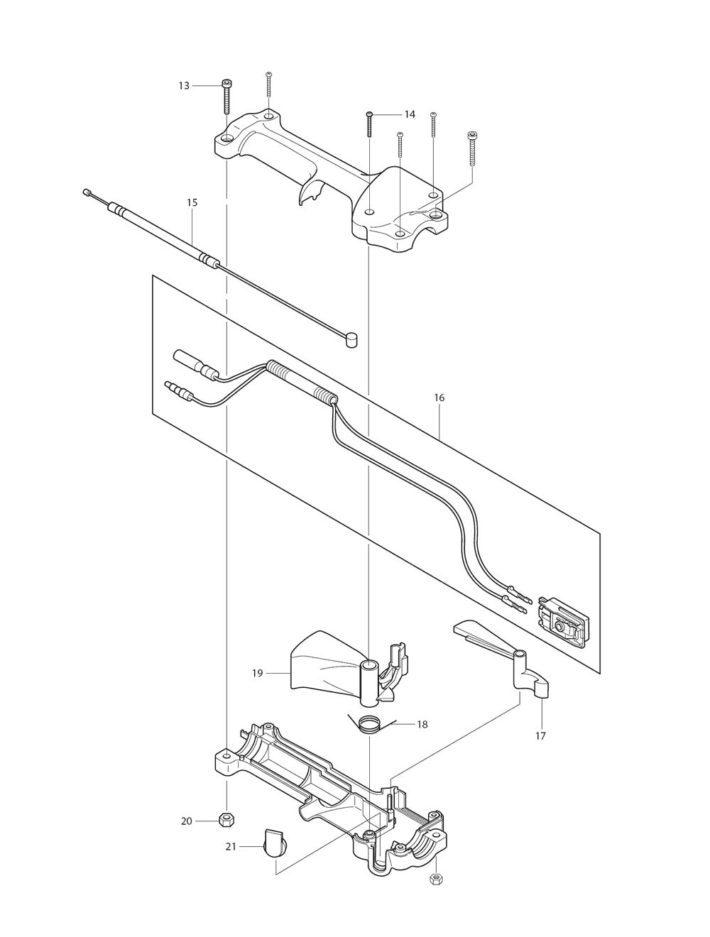 PTR2500-T3-Makita-PB-1Break Down