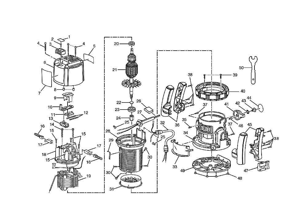 ryobi router wiring diagram buy ryobi r161 replacement tool parts | ryobi r161 router ... #4