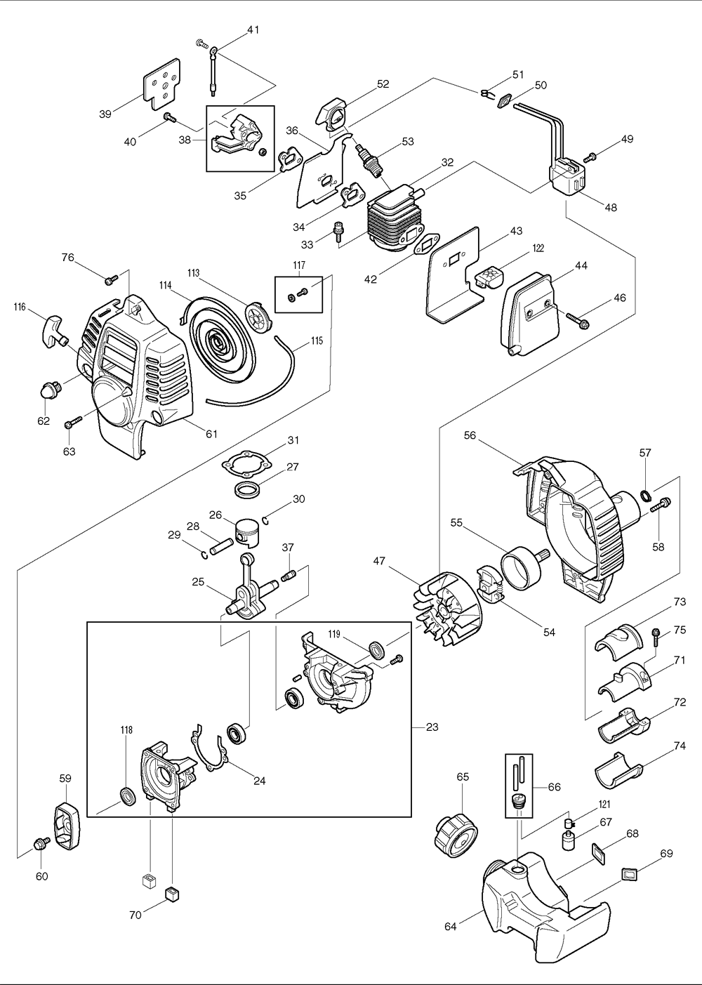 Makita-RBC221-232-PBBreak Down