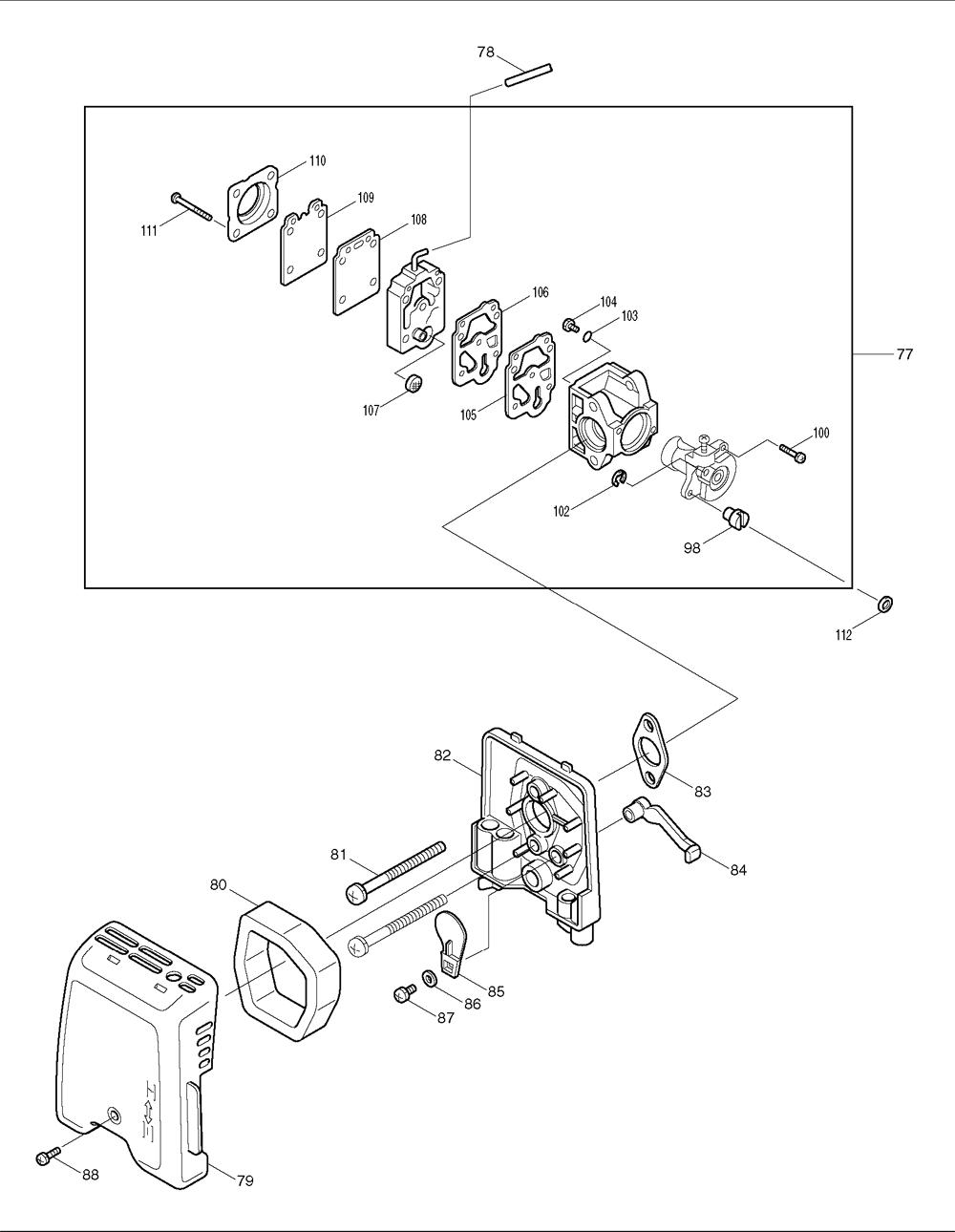 Makita-RBC221-233-PBBreak Down