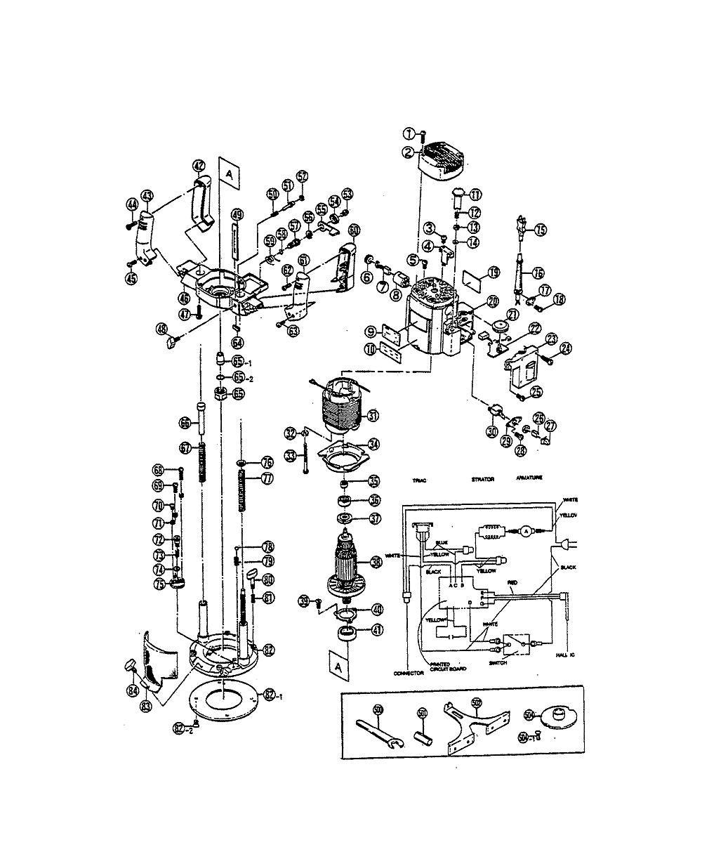 buy ryobi re600 replacement tool parts | ryobi re600 ... ryobi router wiring diagram att router wiring diagram #13