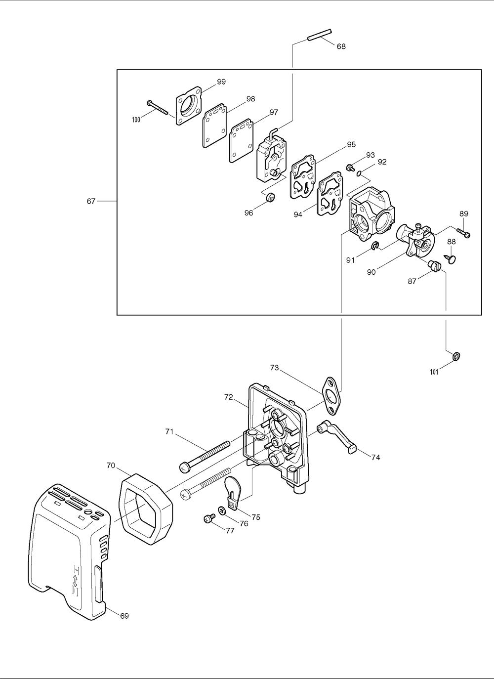 Makita-RST250-224-PBBreak Down