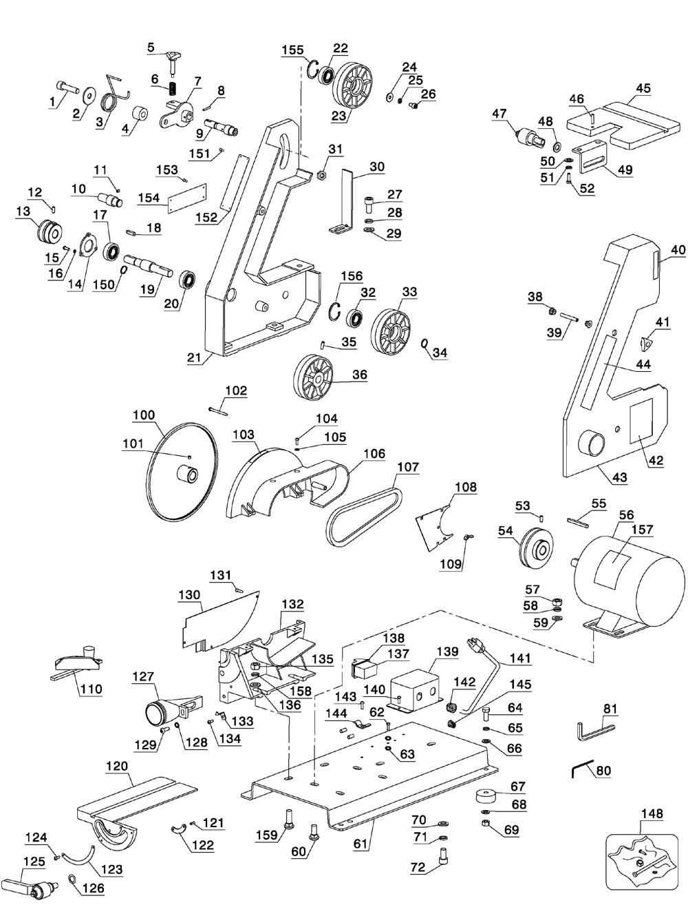 delta belt disc sander parts list