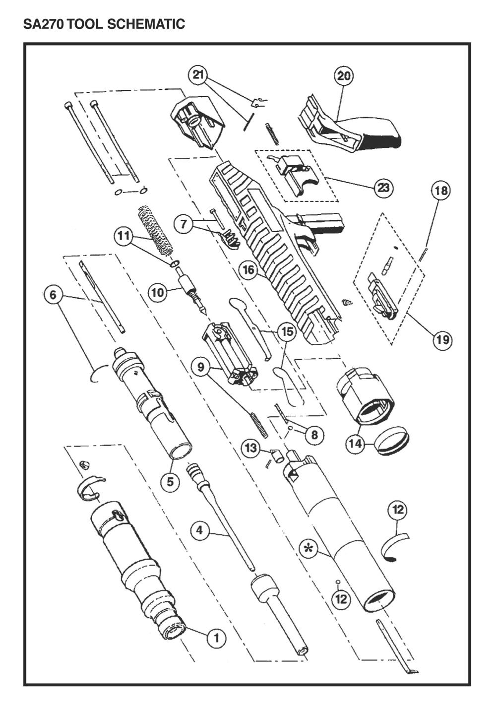 buy ramset sa270 replacement tool parts