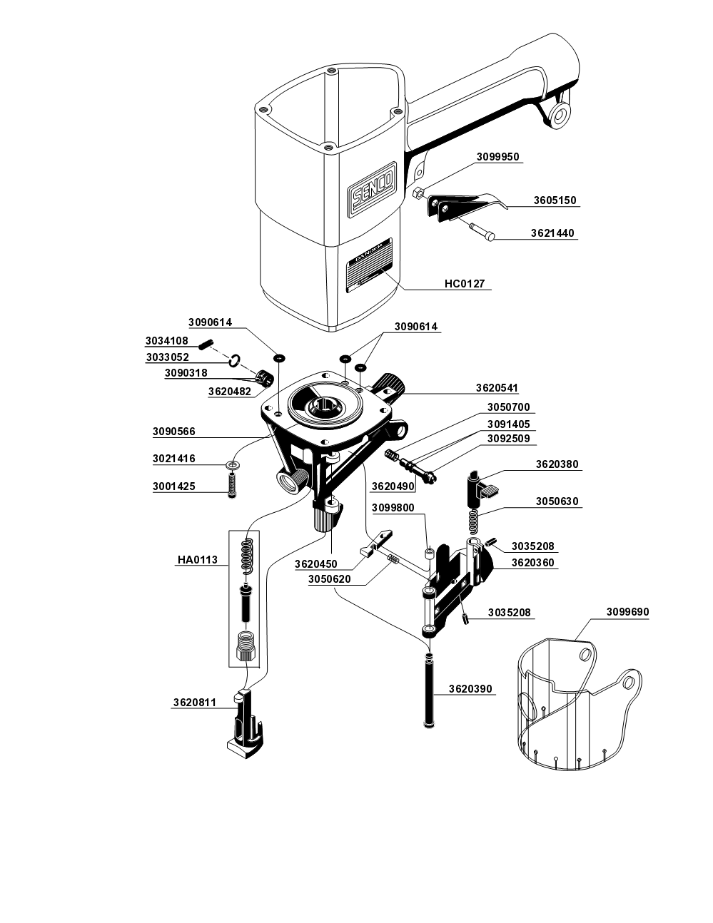 SCN200-senco-PB-1Break Down