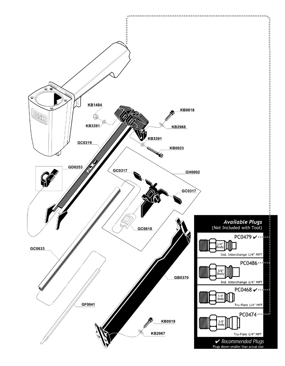 senco sfn1 parts diagram