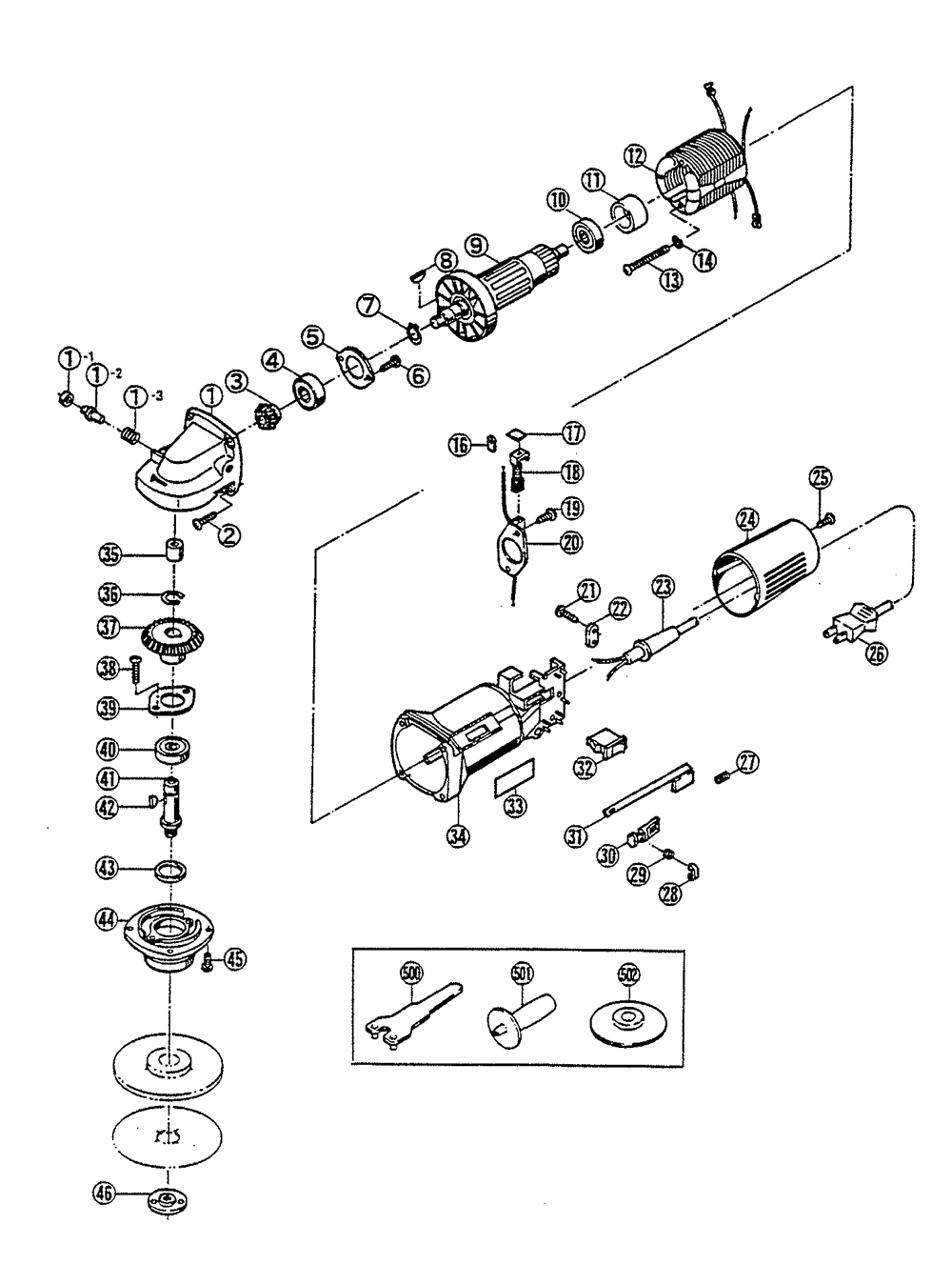 porter cable angle grinder parts diagram vector angle