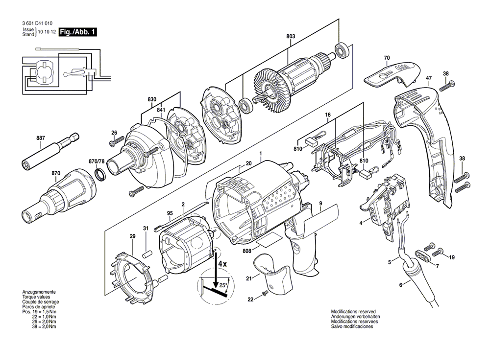 buy bosch sg45m  twist lock plug replacement tool parts