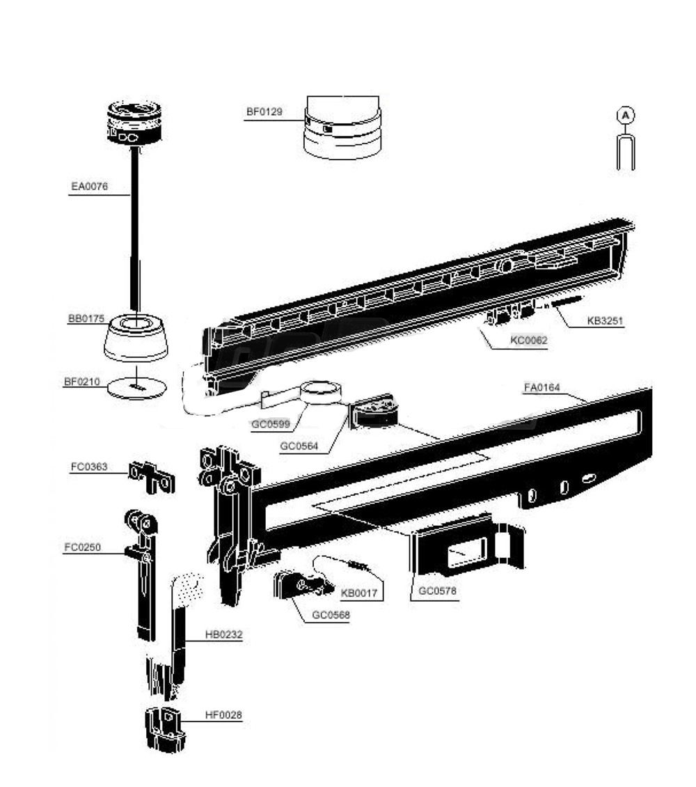 Tool Replacement Parts : Buy senco sls k replacement tool parts