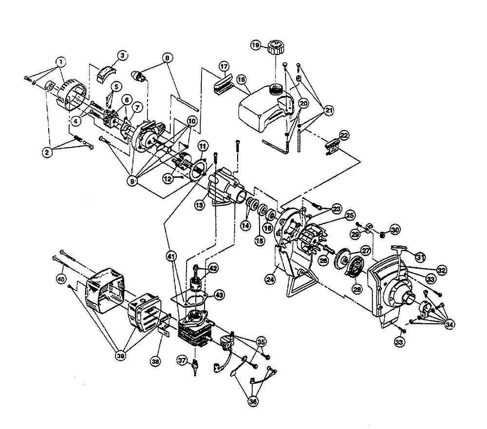 Parts Diagram Parts List For Model 875 Ryobiparts Trimmerparts