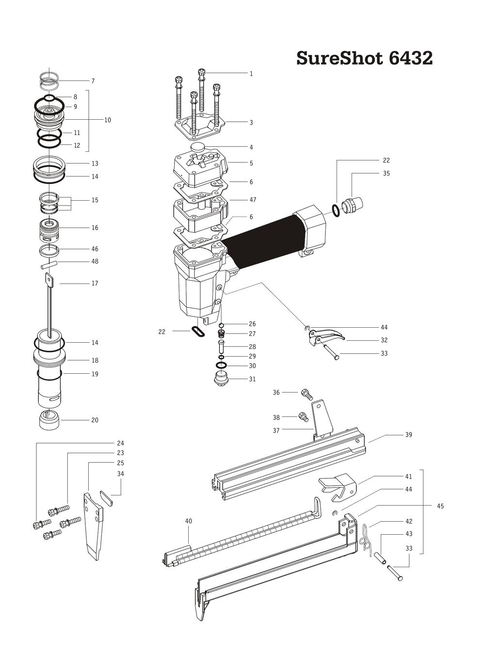 buy duo 8 u0026quot  to 1 19 ga  narrow crown stapler replacement tool parts