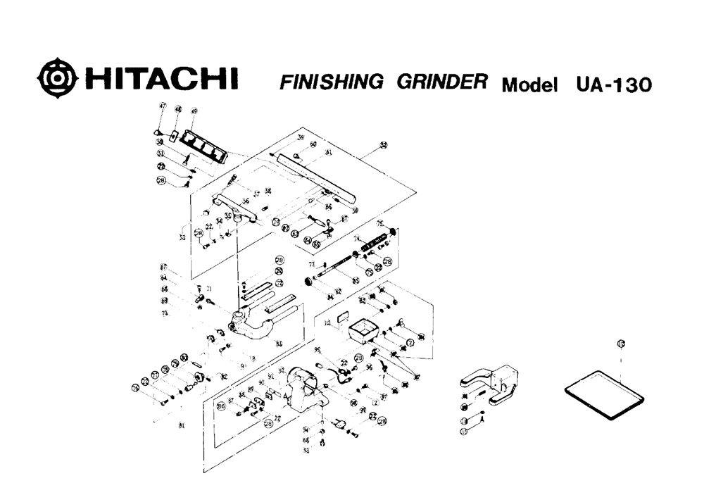 UA-130-Hitachi-PB-1Break Down
