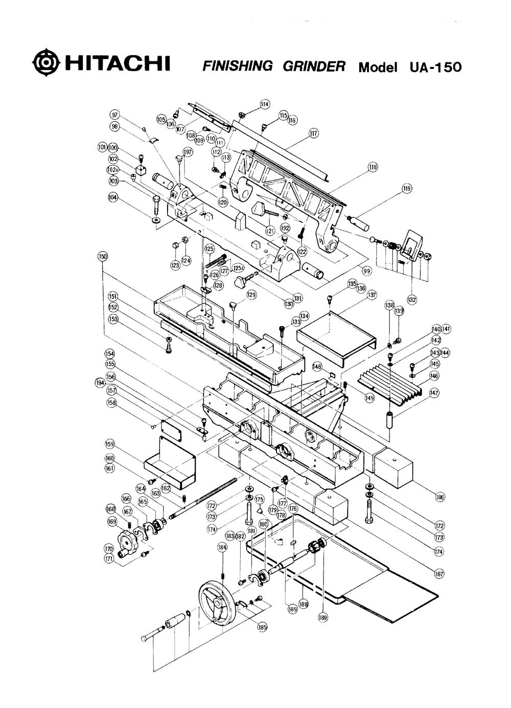 UA-150-Hitachi-PB-1Break Down