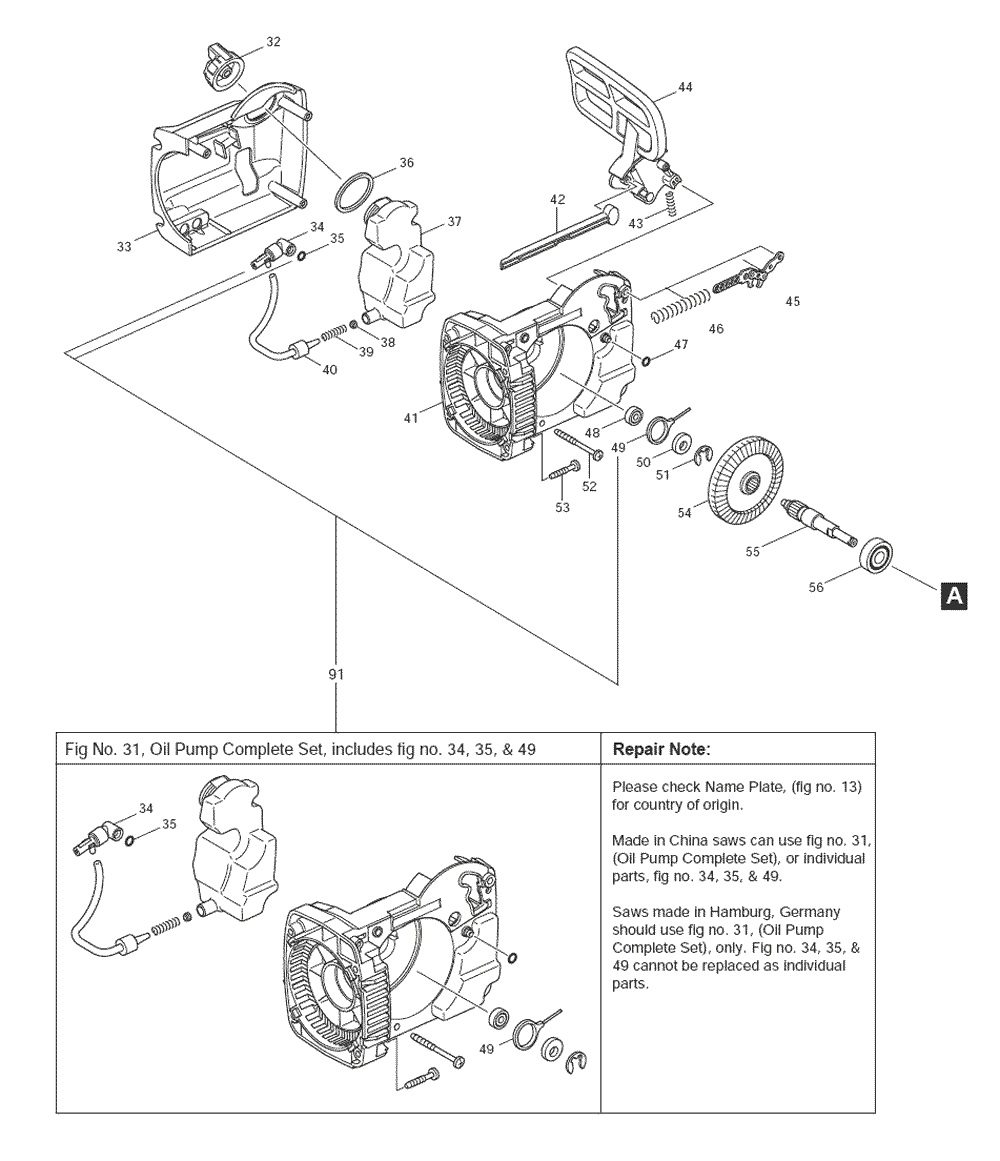 Makita-UC3530A-230-PBBreak Down
