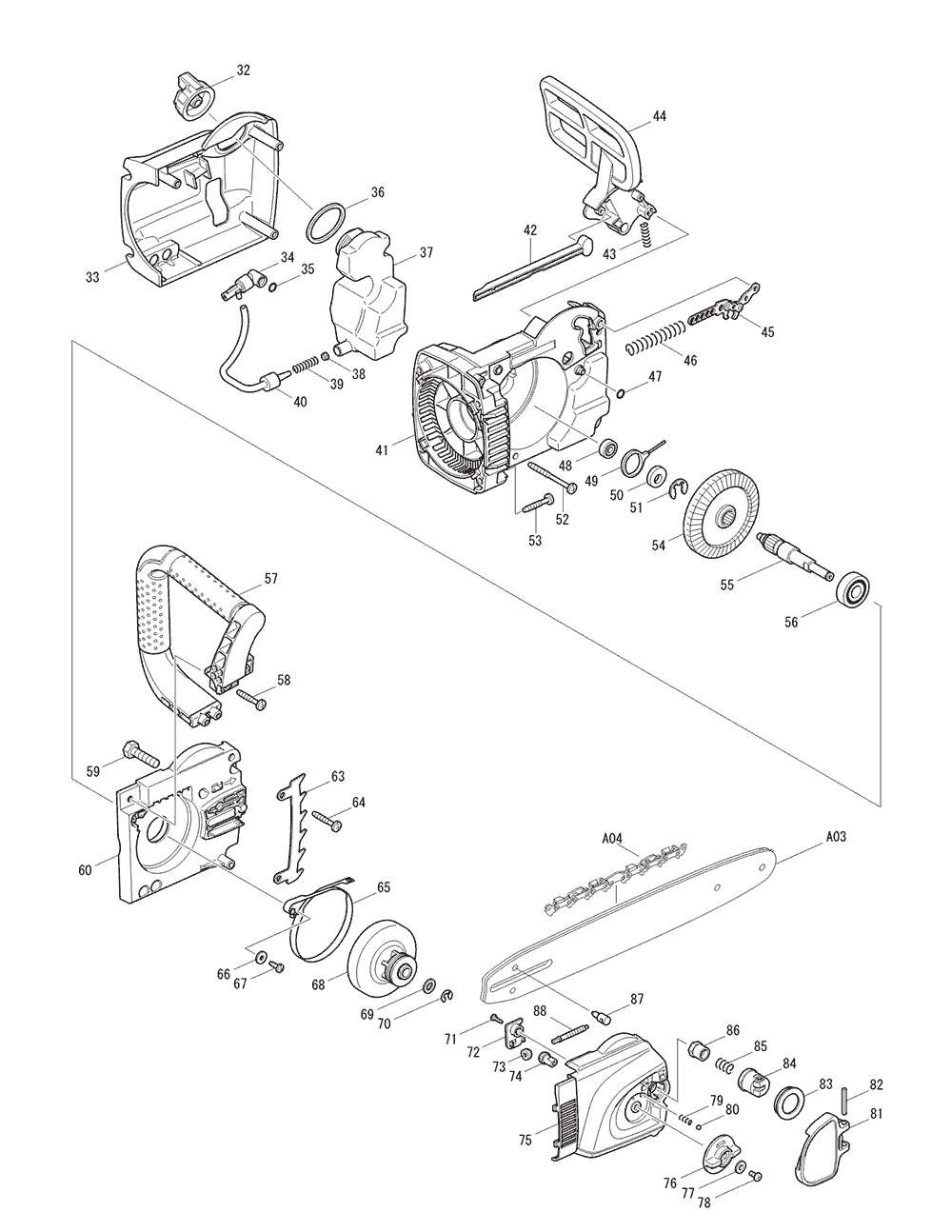 UC4030A-T2-Makita-PB-1Break Down