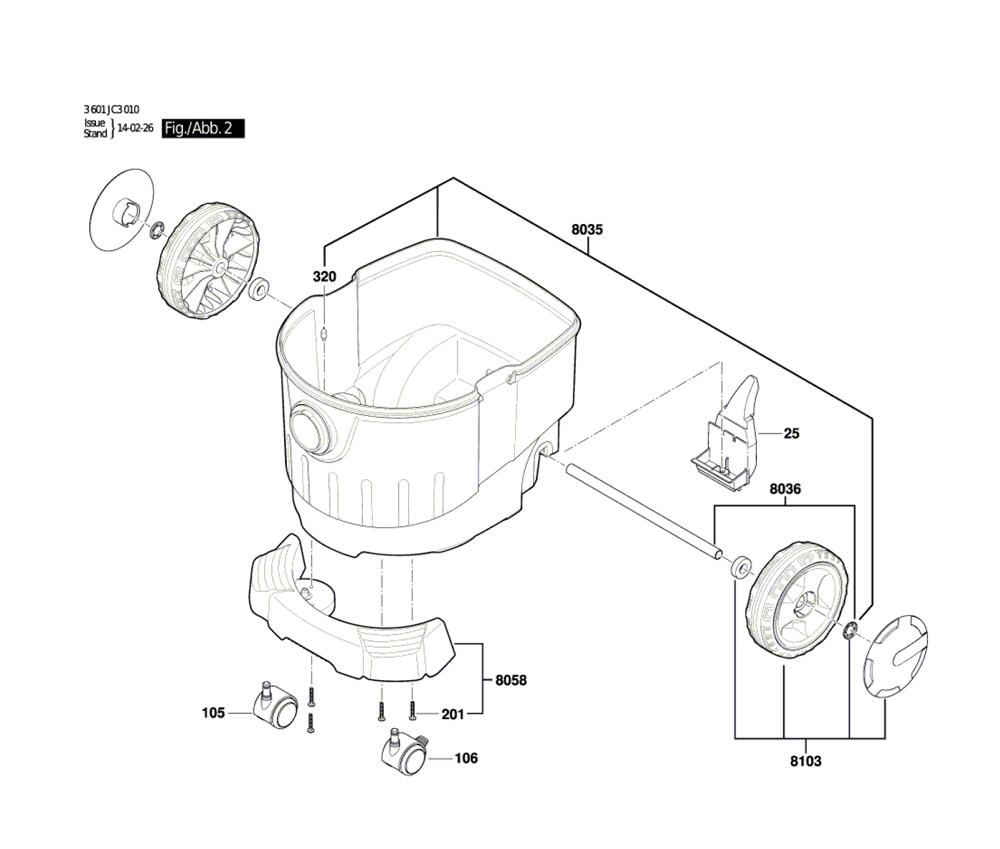 VAC090S-(3601JC3010)-Bosch-PB-1Break Down