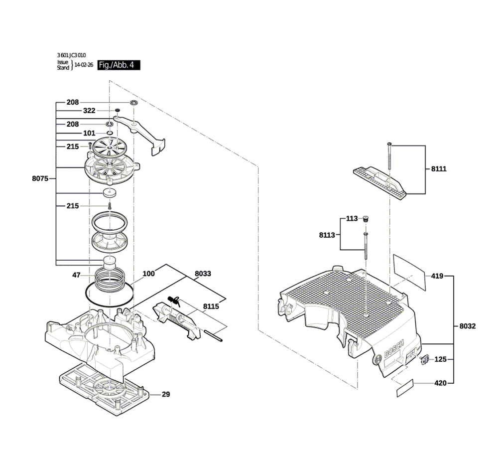 VAC090S-(3601JC3010)-Bosch-PB-3Break Down