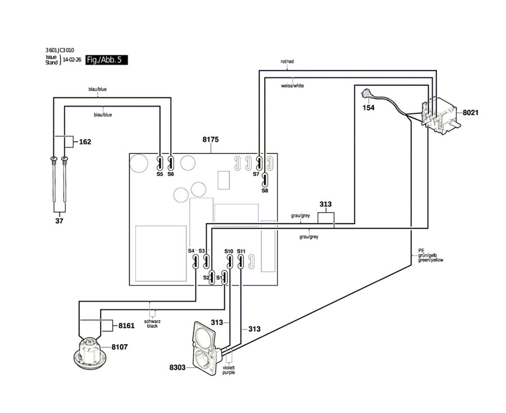 VAC090S-(3601JC3010)-Bosch-PB-4Break Down