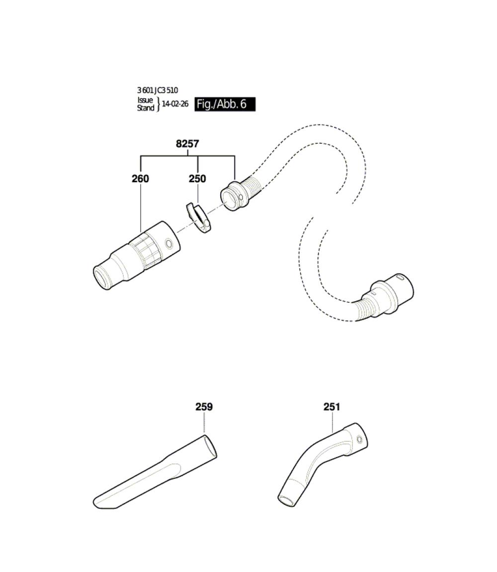 VAC140A-(3601JC3510)-Bosch-PB-5Break Down