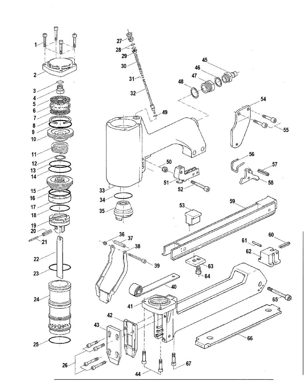 Pneumatic Counter Schematic Part : Buy bostitch w replacement tool parts