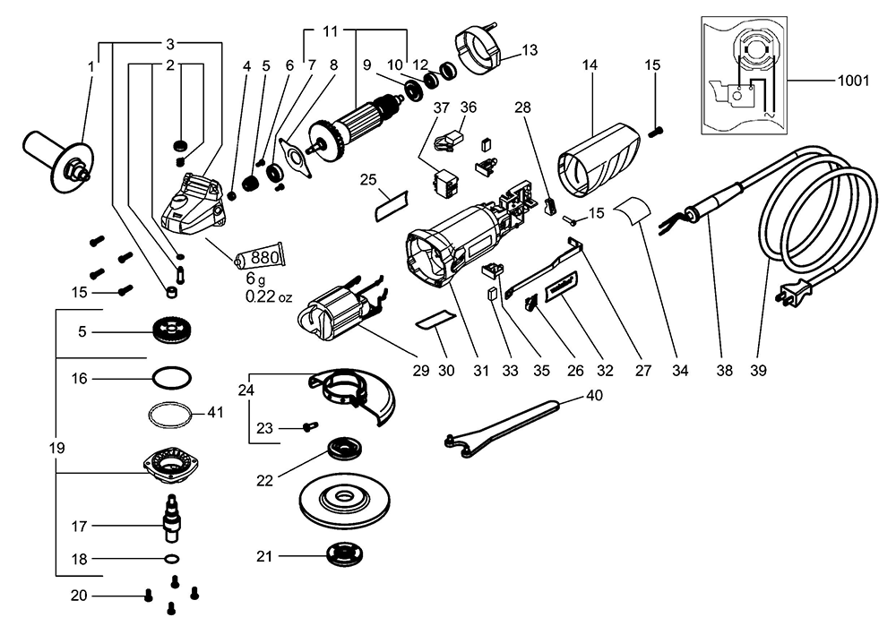 Tool Replacement Parts : Buy metabo w  replacement tool parts