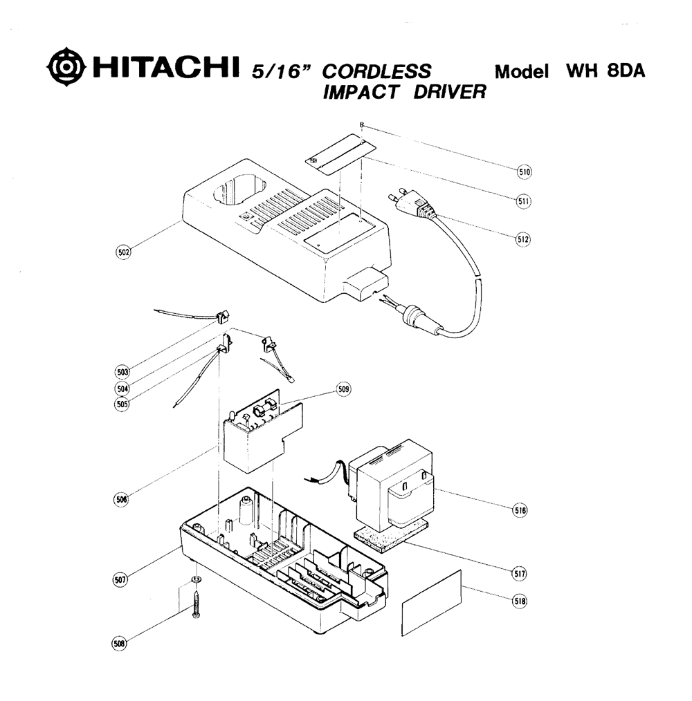 WH8DA-Hitachi-PB-1Break Down